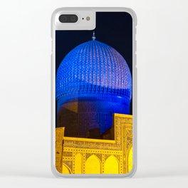 Timur mausoleum at night Clear iPhone Case