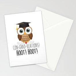Con-grad-ulations! Hoot! Hoot! Stationery Cards