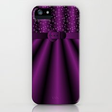 Purple Satin Gown iPhone (5, 5s) Slim Case