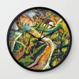 Chaim Soutine - Chemin de la Fontaine des Tins at Ceret - Digital Remastered Edition Wall Clock