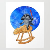 darth vader Art Prints featuring Darth Vader by gunberk