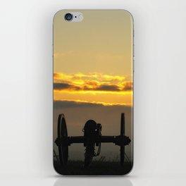 Sunrise on a foggy Battlefield iPhone Skin