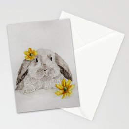 Flower Bunny Stationery Cards