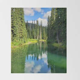 Pacific North West Alpine Lake Throw Blanket
