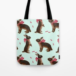 Valentine Rabbits Tote Bag