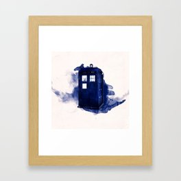 tardis dr who Framed Art Print