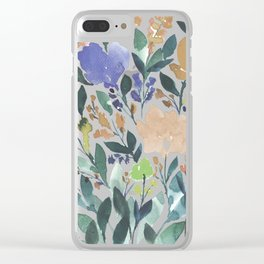 hand painted flowers_2b Clear iPhone Case