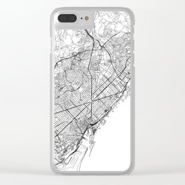 Barcelona White Map Clear iPhone Case