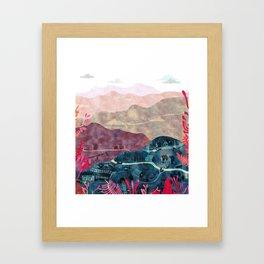 the village Framed Art Print