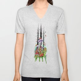 Woodland Wonderment Unisex V-Neck