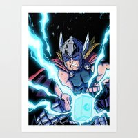The Mighty THOR! Art Print