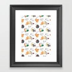 Chick -Chick - Chick - Chick - Chicken! Framed Art Print