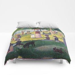 A Sunday on La Grande Jatte by Georges Seurat, 1884 Comforters