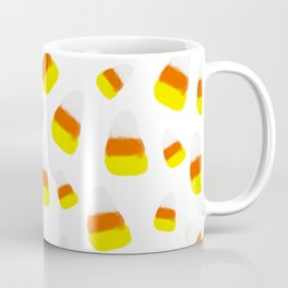 Cute halloween candy corn orange yellow watercolor pattern Coffee Mug