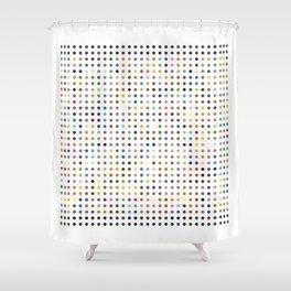 Pi Dots Shower Curtain