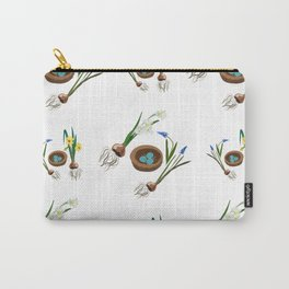 Easter flowers and birds nest pattern Carry-All Pouch