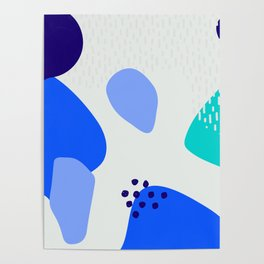 Blue abstract pattern Poster