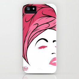 Lady Wrap (pink) iPhone Case