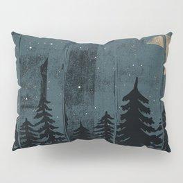 A Fox in the Wild Night... Pillow Sham