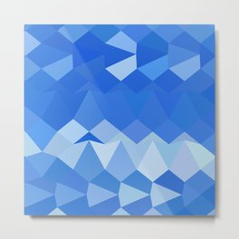 Brandeis Blue Abstract Low Polygon Background Metal Print