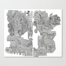 Squigglies Canvas Print