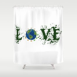 Earth Day Love Mother Earth Shower Curtain