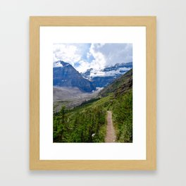 Glacier views Framed Art Print