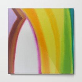 """The door of the light"" Original oil finger painting by Monika Toth Metal Print"