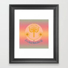 It's a Small World Tower Clock Framed Art Print