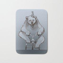 Tricycle Bear Bath Mat