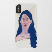 kitsune iPhone & iPod Cases featuring Kitsune by days & hours