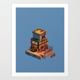 Voxel Shop Art Print