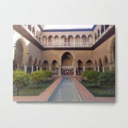 Alcázar of Seville Metal Print