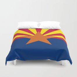 State flag of Arizona, Authentic HQ image Duvet Cover