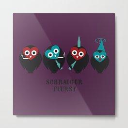 schraegerfuerst, the nightowls Metal Print
