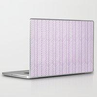 herringbone Laptop & iPad Skins featuring Herringbone Orchid by Project M