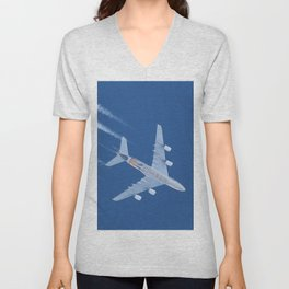 Airbus A380 Etihad Airways, 12200m Unisex V-Neck