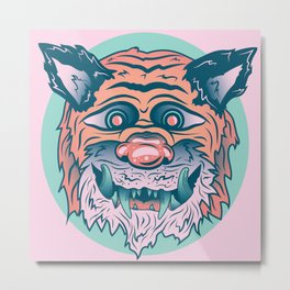 Trippy Tiger Metal Print