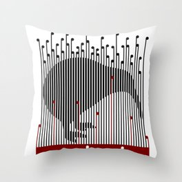 Kiwi in Rapou Throw Pillow
