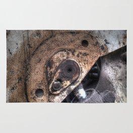 Machine Rust Hydraulic Ram Rug
