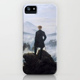 Caspar David Friedrich, Wanderer above the sea of fog, 1818 iPhone Case