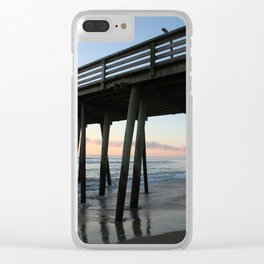Virginia Pier at early morning hours Clear iPhone Case