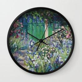 Monet's Door — Giverny, France Wall Clock