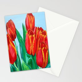 Red Tulips  Stationery Cards