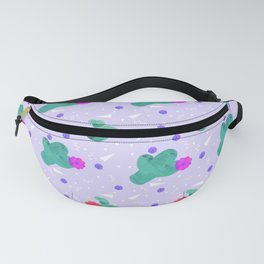 Hello Cactus Lavender Background Fanny Pack