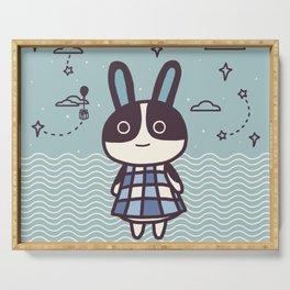 Rabbit Dotty Animal Villager | illustration Serving Tray