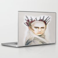 thranduil Laptop & iPad Skins featuring Thranduil by Olivia Nicholls-Bates
