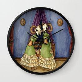 Macabre Twins Wall Clock