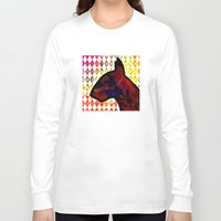 bull terrier Long Sleeve T-shirts featuring Bull Terrier Jester by Erin Conover