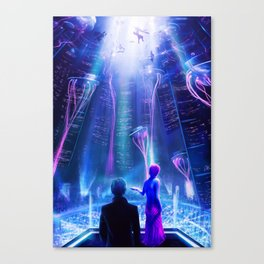Ready Player One inspired | Painting Poster | CLUB SCENE | PRINTS | #M47 Canvas Print
